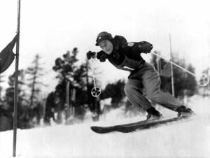 La skieuse américaine Gretchen Frazer. (source olympic.org)