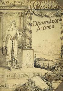 Couverture du rapport des jeux olympiques. Il n'y avait pas d'affiche à cette époque.