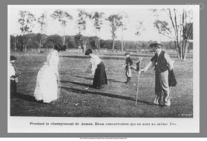 Compétition de golf chez les dames. Source: olympic.org